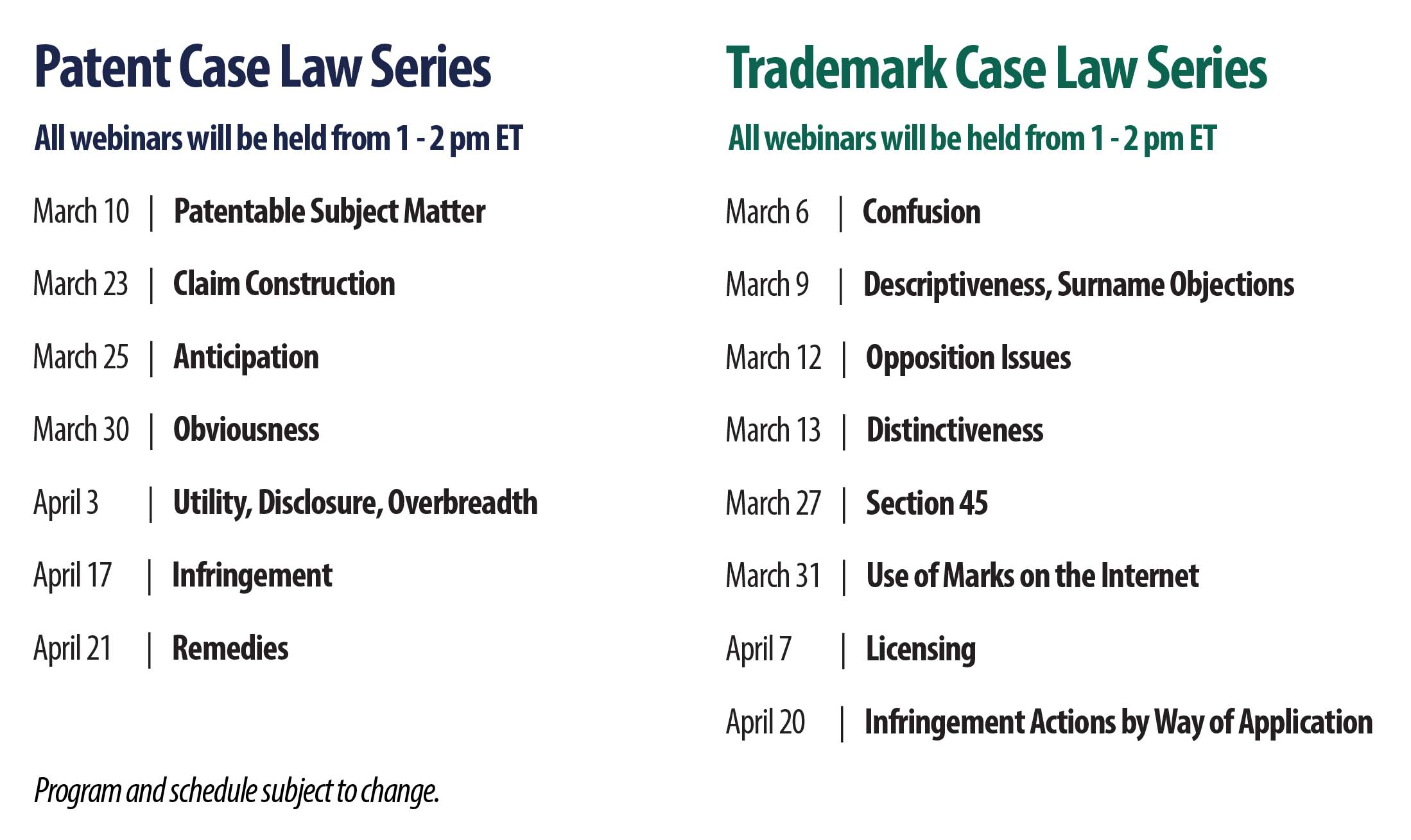 Case Law - Schedule EN
