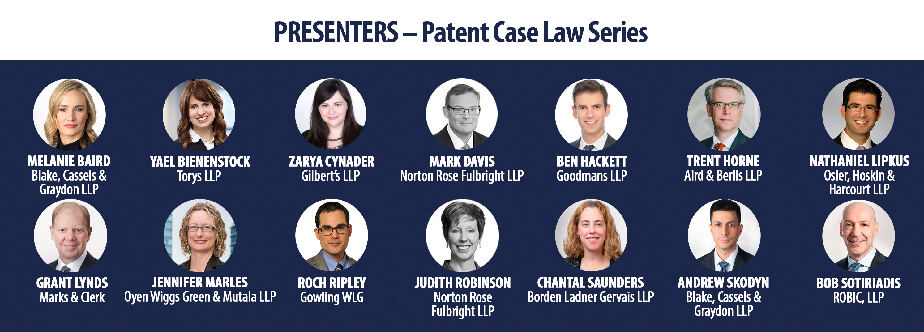 Patent Case Law Speakers  - EN